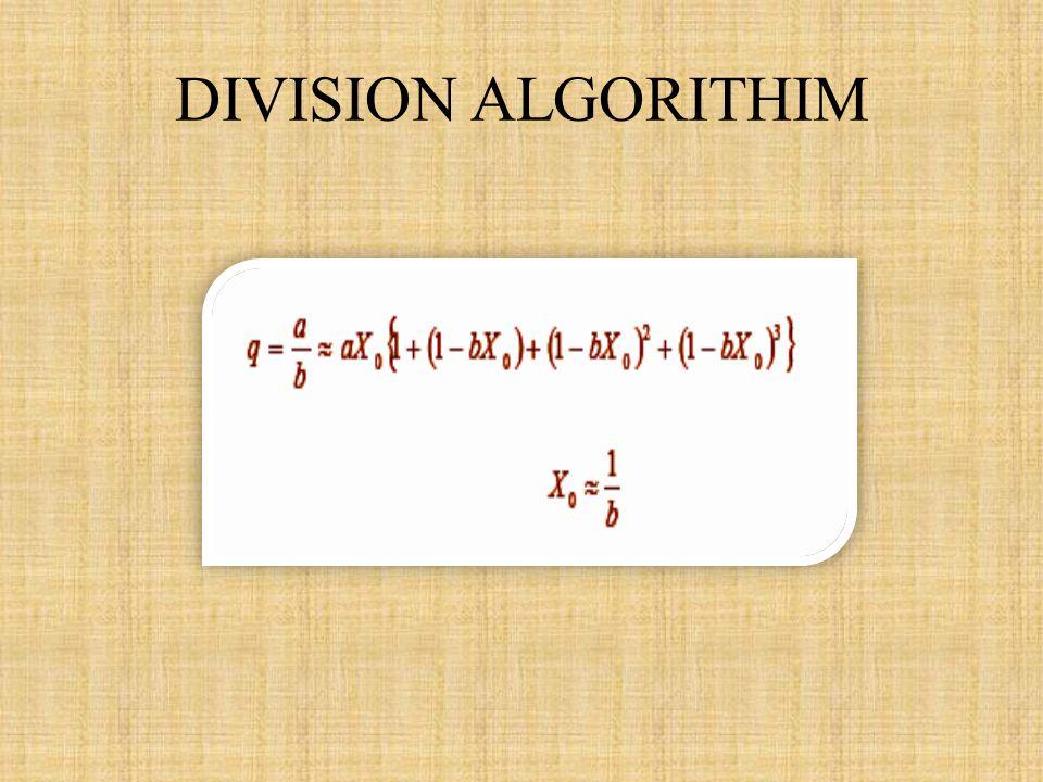 DIVISION ALGORITHIM