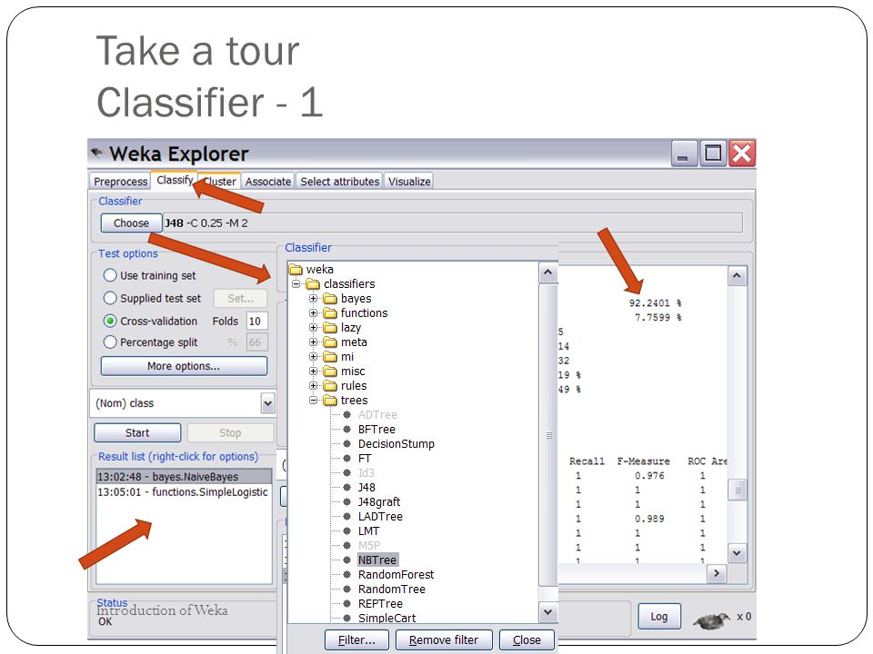 Take a tour Classifier - 1 Introduction of Weka