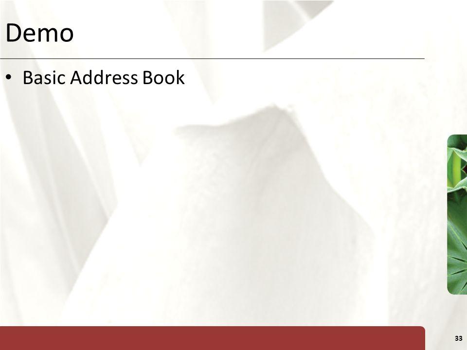 XP 33 Demo Basic Address Book