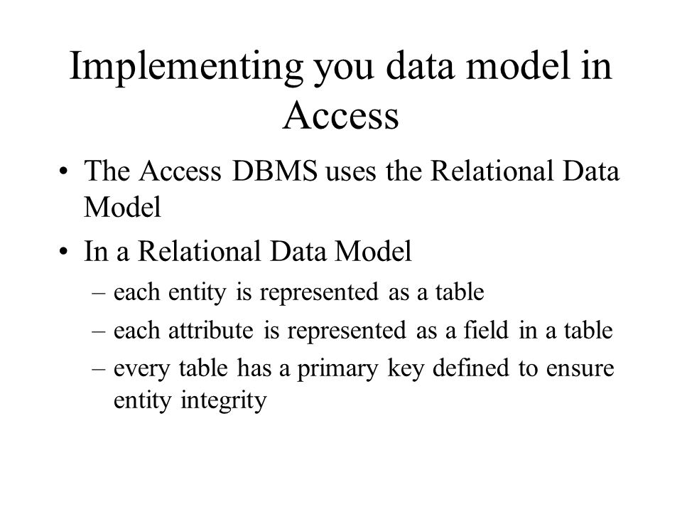 Instances of an Entities Once youve created your tables you enter data into the rows.