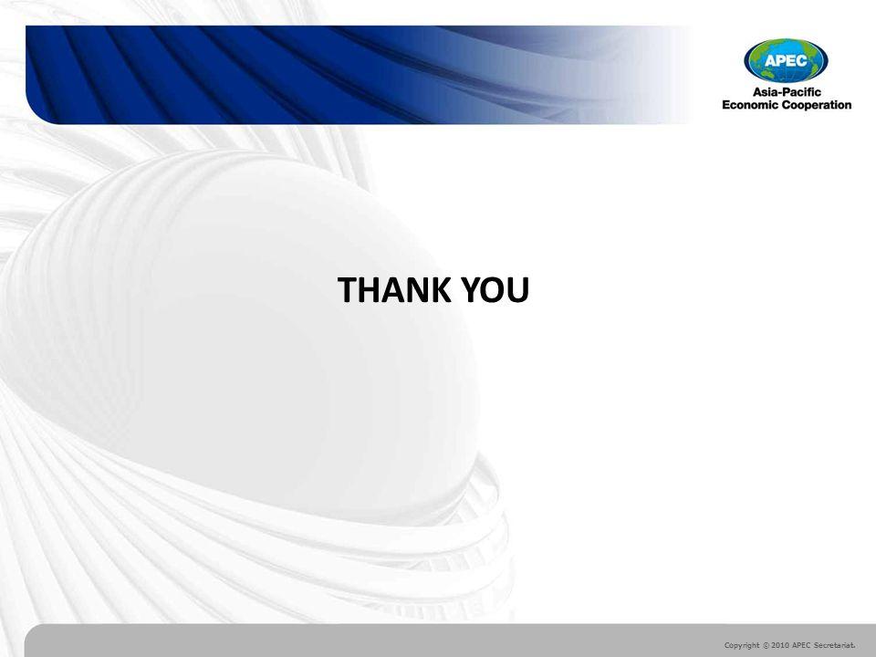Copyright © 2010 APEC Secretariat. THANK YOU