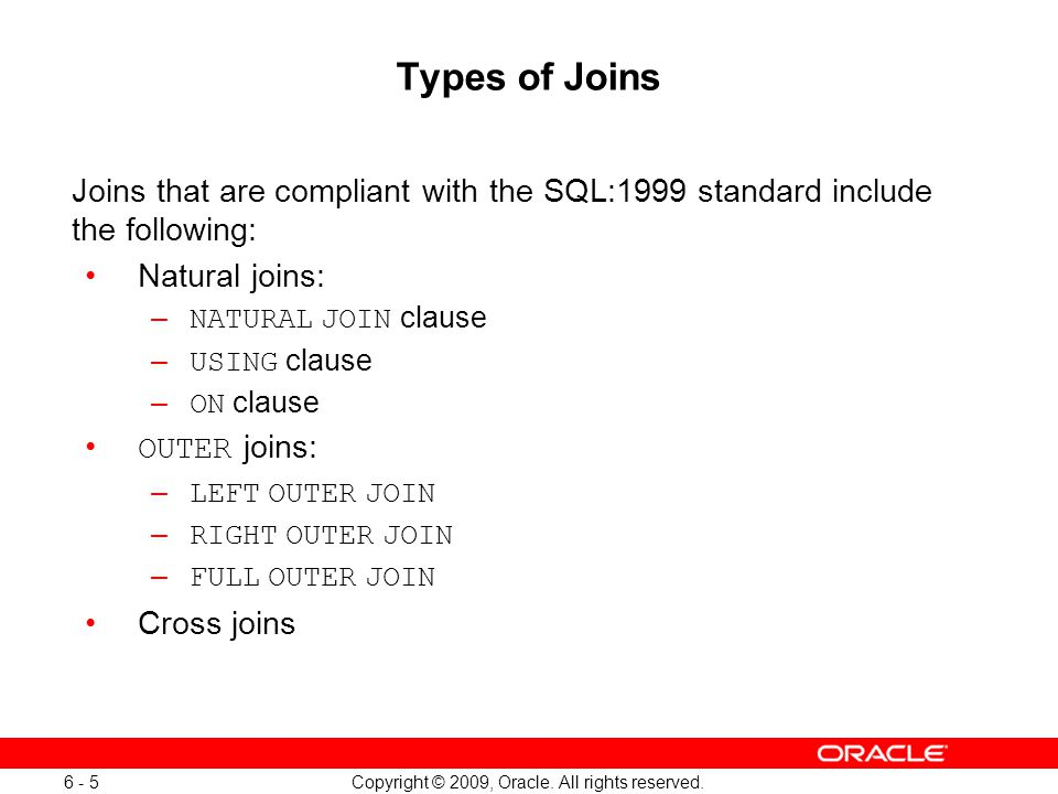 Copyright © 2009, Oracle.All rights reserved.