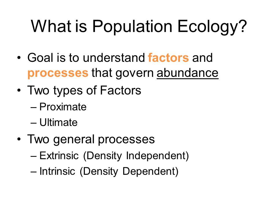 Population Descriptions Population Growth Population Regulation