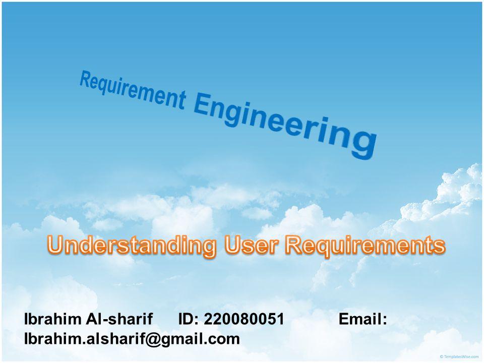 Ibrahim Al-sharif ID: 220080051 Email: Ibrahim.alsharif@gmail.com