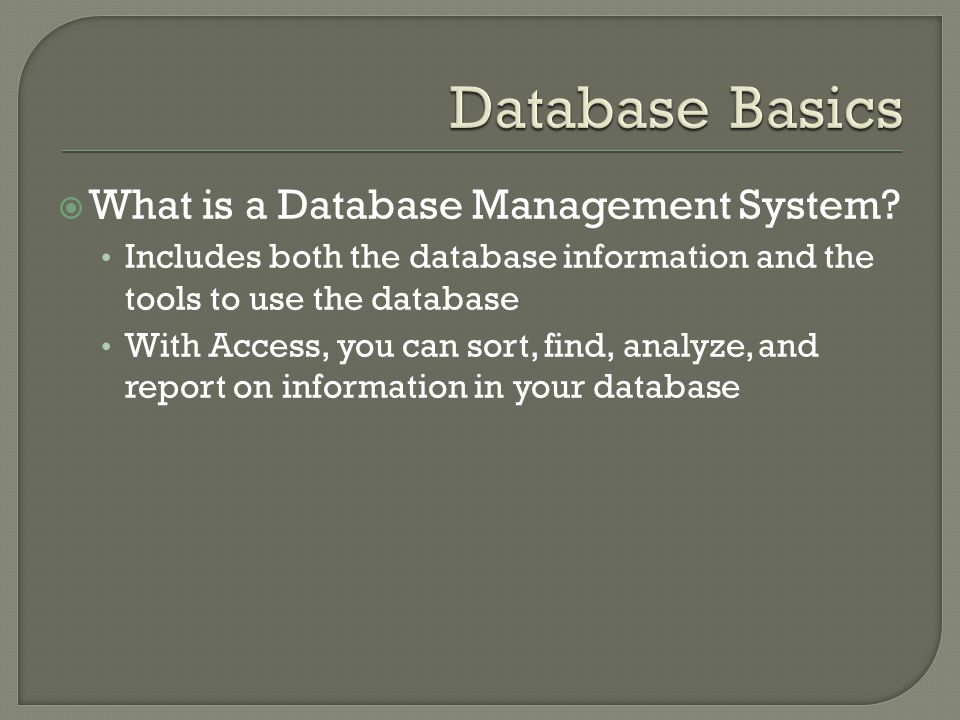 What is a Database Management System.