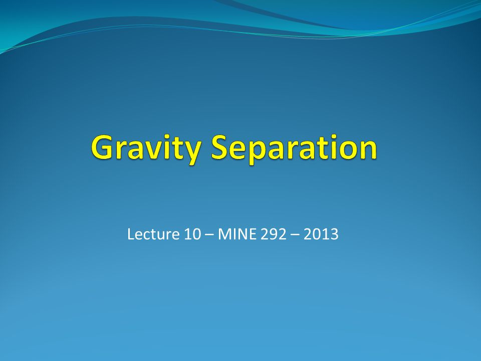 Dense Media Separation Magnetite Slurry Particle Size (media S.G.