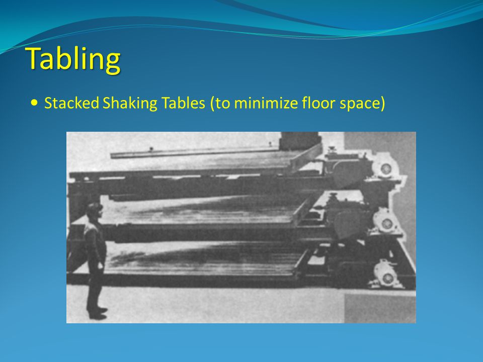 Tabling Stacked Shaking Tables (to minimize floor space)