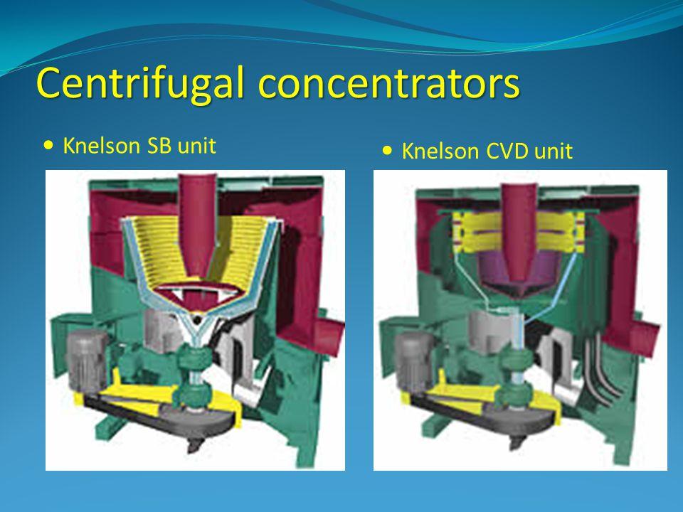 Centrifugal concentrators Knelson SB unit Knelson CVD unit