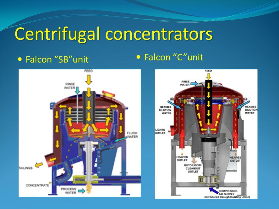 Centrifugal concentrators Falcon SBunit Falcon Cunit