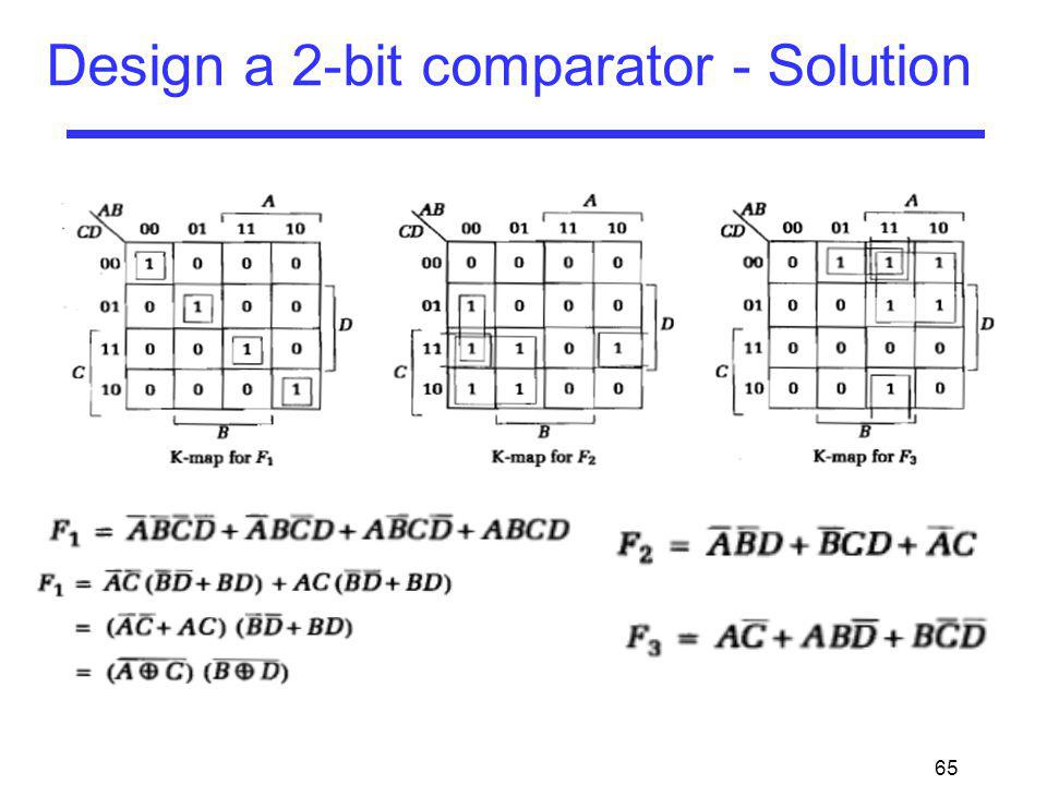65 Design a 2-bit comparator - Solution