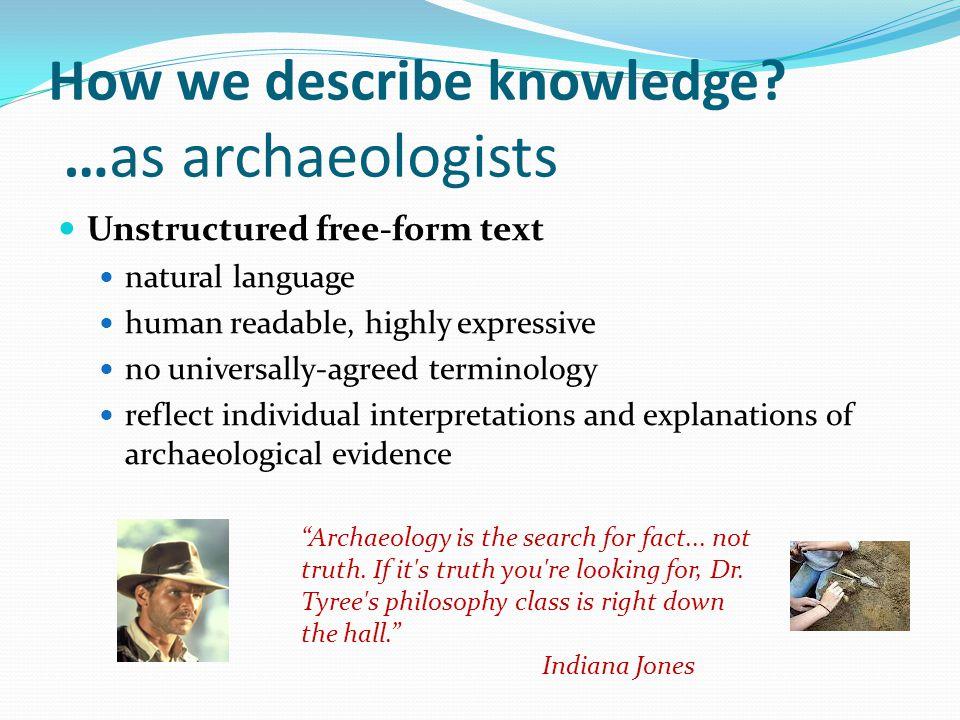 How we describe knowledge.
