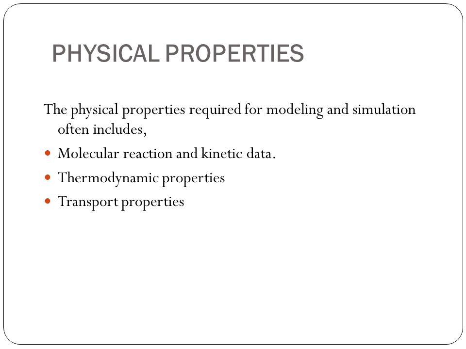 MISCELLANEOUS - SPECIAL APPLICATION METHODS Amines Property Package
