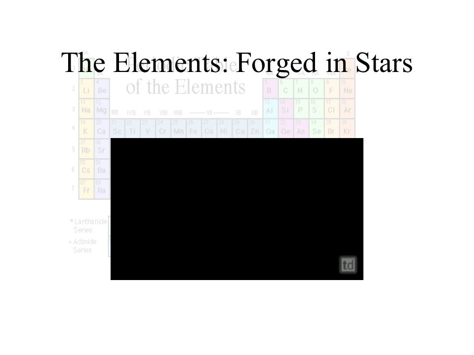 The Elements: Forged in Stars