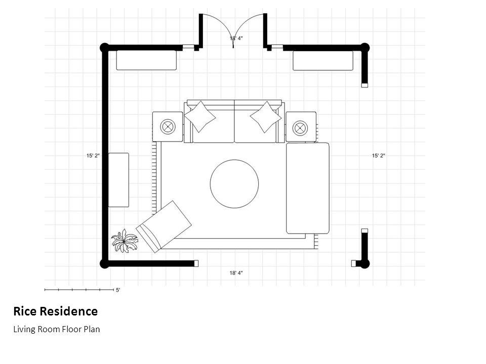 Rice Residence Living Room Floor Plan