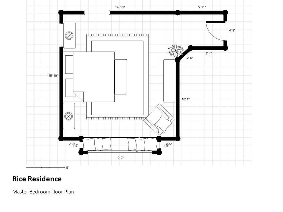 Rice Residence Master Bedroom Floor Plan