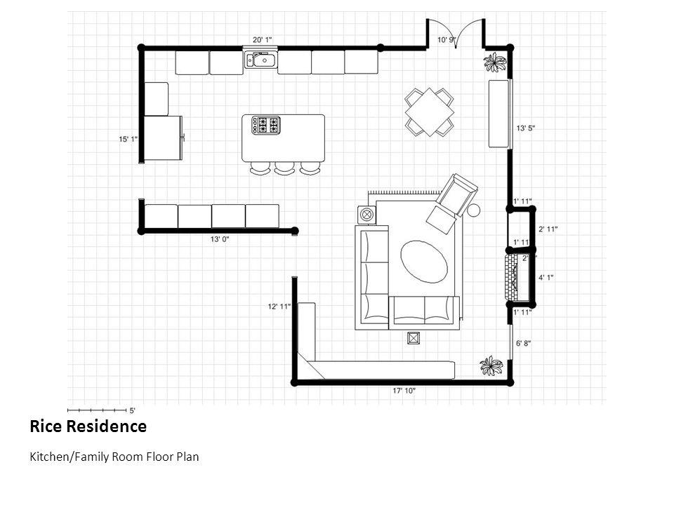 Rice Residence Kitchen/Family Room Floor Plan