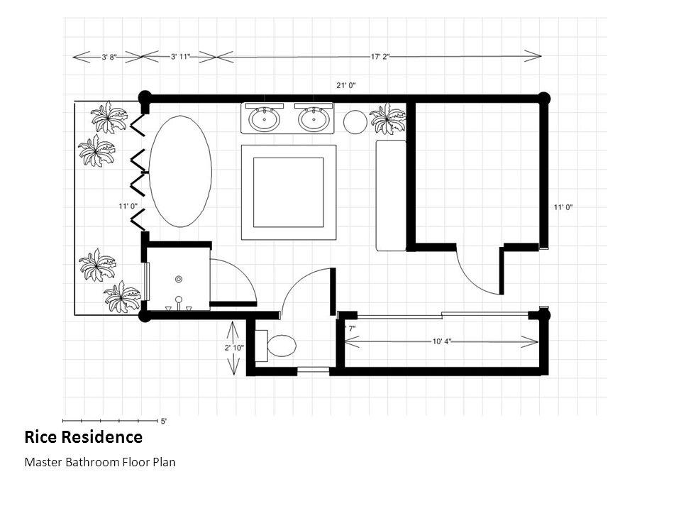 Rice Residence Master Bathroom Floor Plan