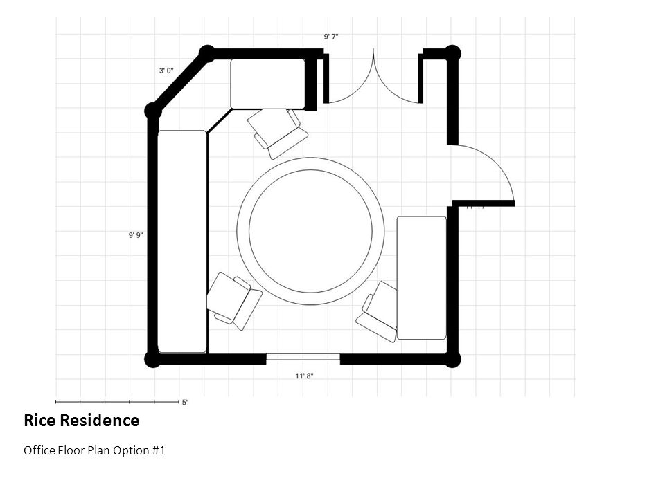 Rice Residence Office Floor Plan Option #1