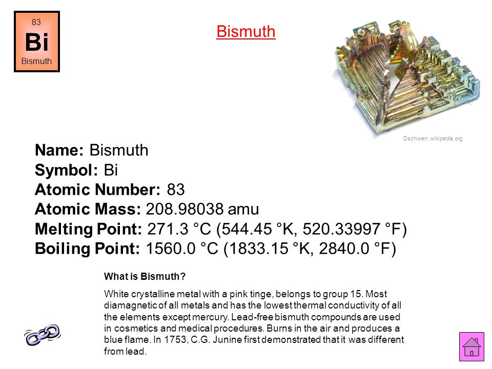 Name: Lead Symbol: Pb Atomic Number: 82 Atomic Mass: 207.2 amu Melting Point: 327.5 °C (600.65 °K, 621.5 °F) Boiling Point: 1740.0 °C (2013.15 °K, 316