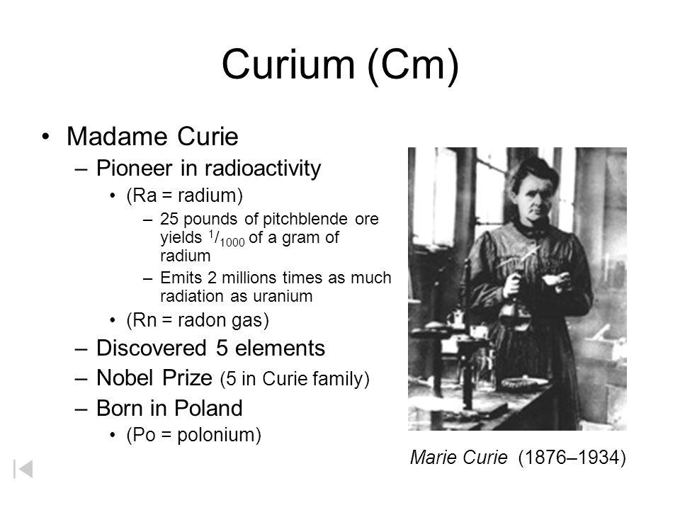 Einsteinium (Es) Albert Einstein –Relativity –E = mc 2 –Offered Presidency of Israel –Element 99 –Photoelectric effect Solar calculator