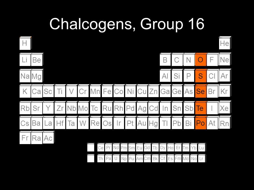 The noble gases (Group 18) - are helium (He), neon (Ne), argon, (Ar), krypton (Kr), xenon (Xe), and radon (Rn); - are monatomic; - are unreactive gase