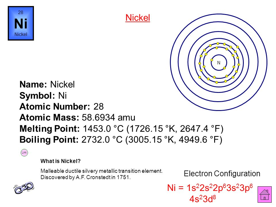 Name: Cobalt Symbol: Co Atomic Number: 27 Atomic Mass: 58.9332 amu Melting Point: 1495.0 °C (1768.15 °K, 2723.0 °F) Boiling Point: 2870.0 °C (3143.15