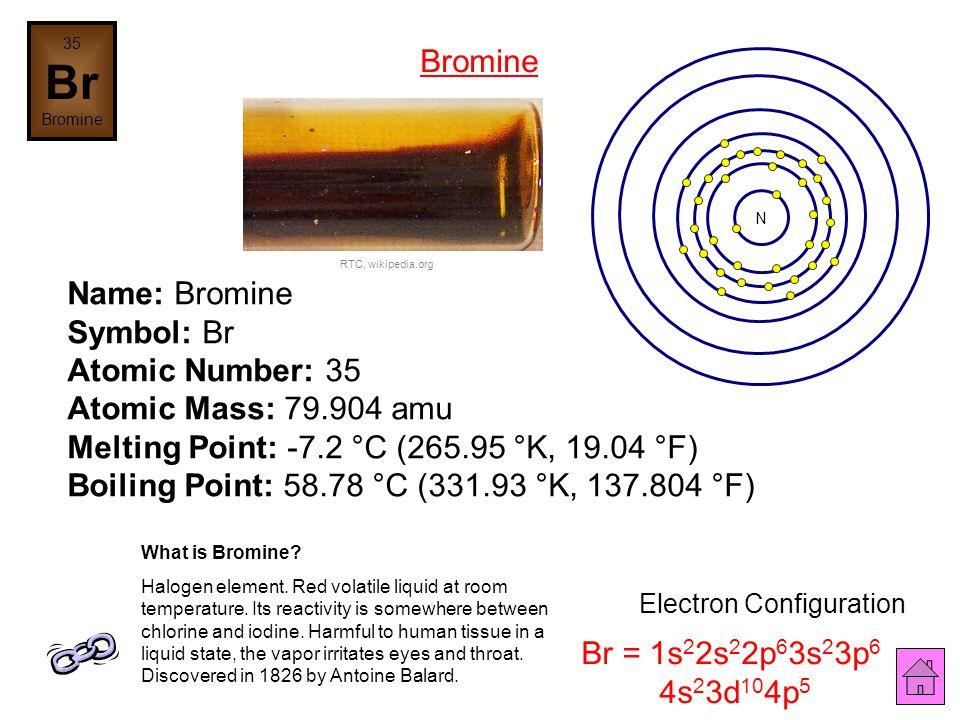 Name: Selenium Symbol: Se Atomic Number: 34 Atomic Mass: 78.96 amu Melting Point: 217.0 °C (490.15 °K, 422.6 °F) Boiling Point: 684.9 °C (958.05005 °K