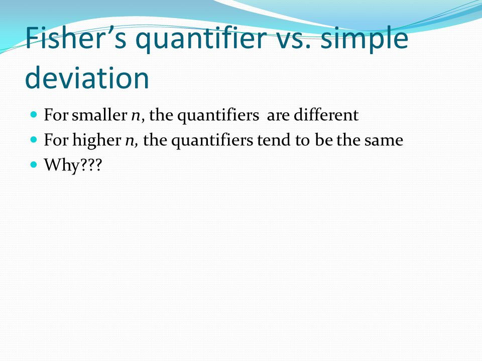 For smaller n, the quantifiers are different For higher n, the quantifiers tend to be the same Why