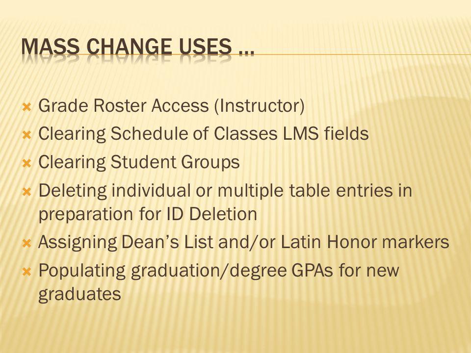 Main Menu > PeopleTools > Mass Changes > Definitions