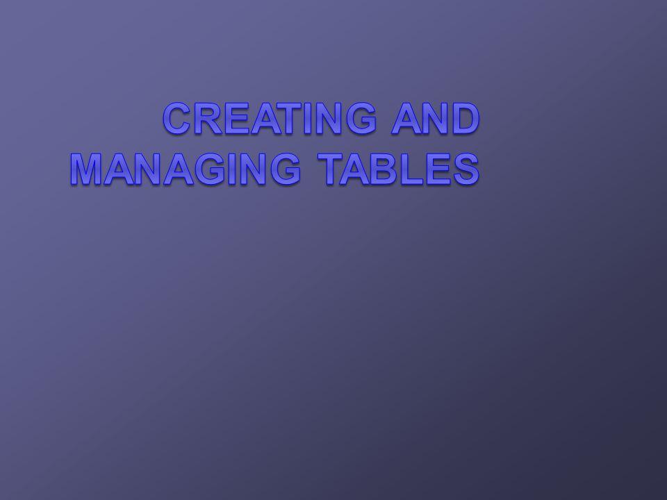 Adding a Column DEPT80 Add a new column to the DEPT80 table. DEPT80 New column