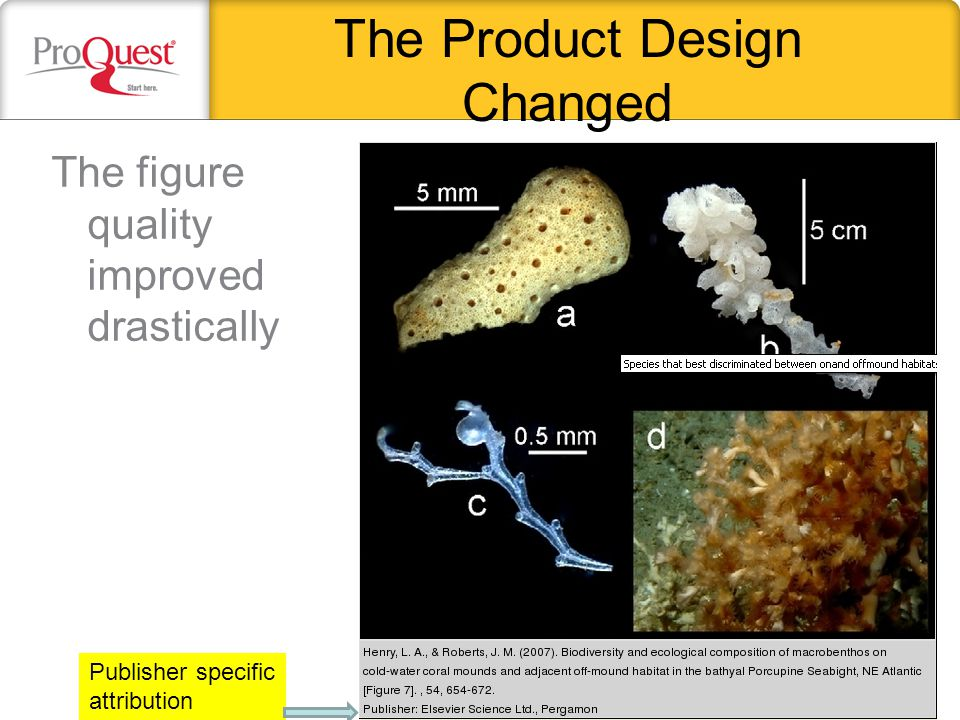 The Product Design Changed The figure quality improved drastically Publisher specific attribution