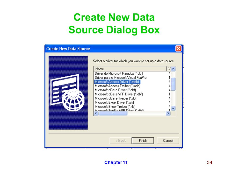 Chapter 1134 Create New Data Source Dialog Box