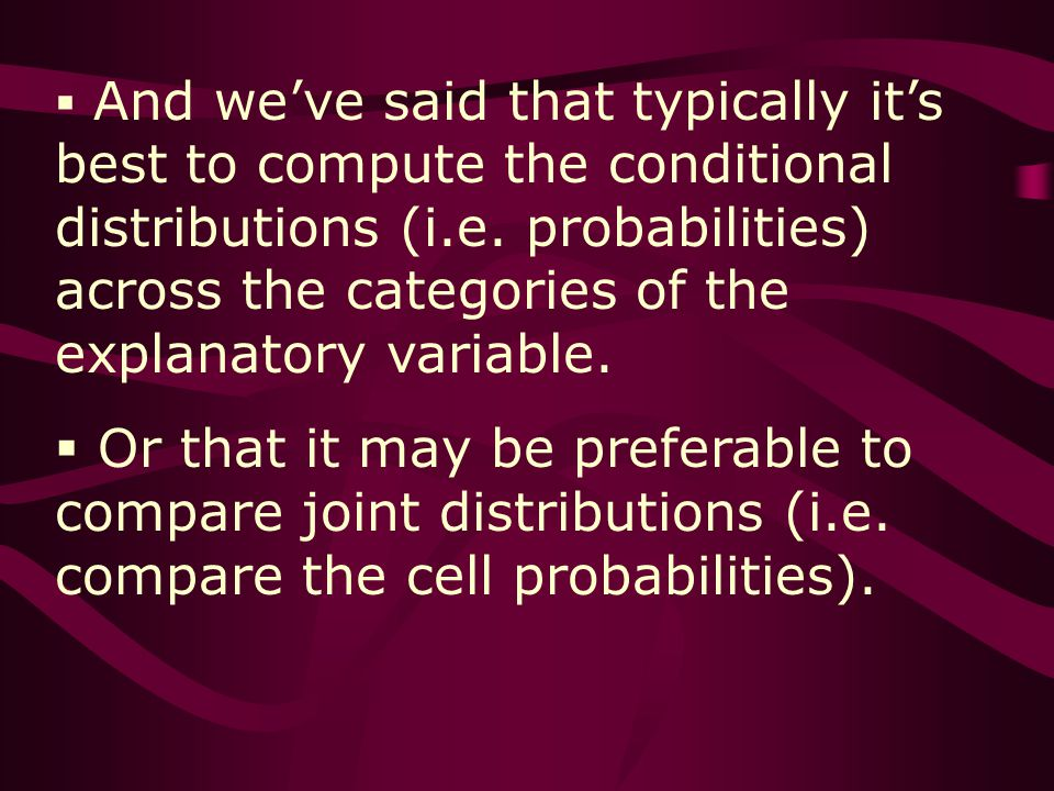 And weve said that typically its best to compute the conditional distributions (i.e.