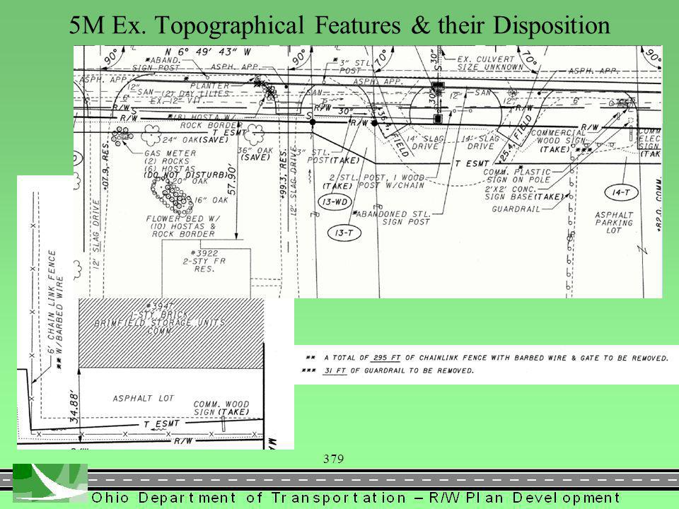 379 5M Ex. Topographical Features & their Disposition