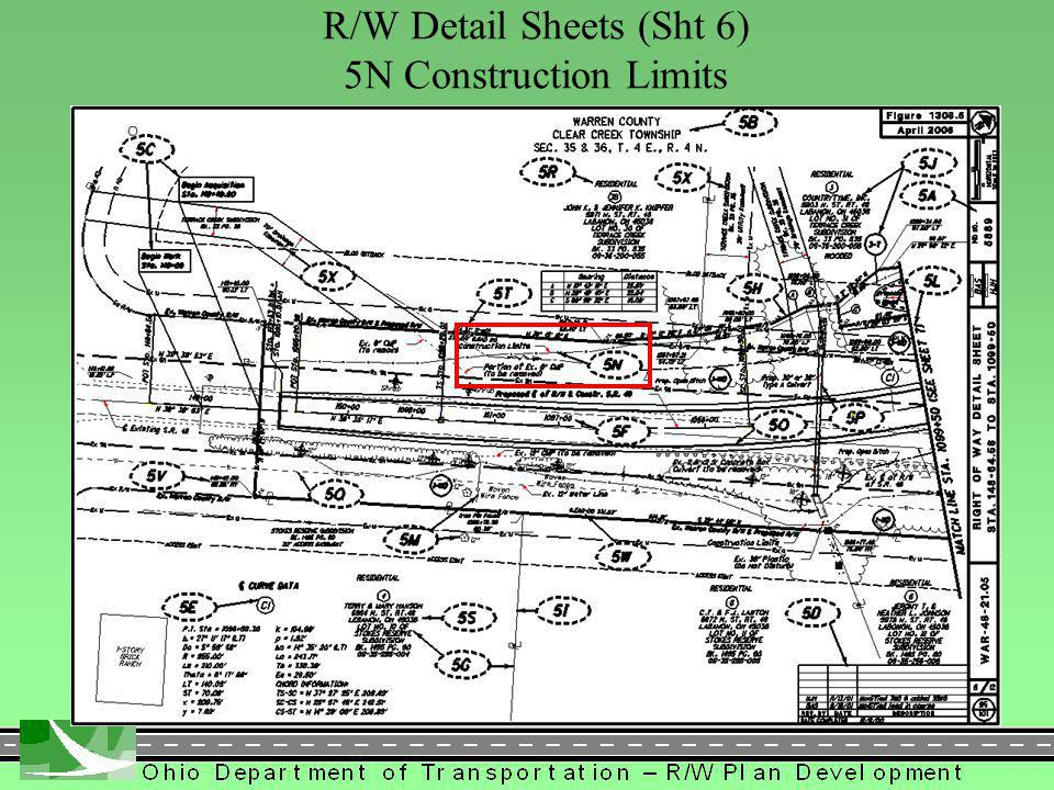 380 R/W Detail Sheets (Sht 6) 5N Construction Limits