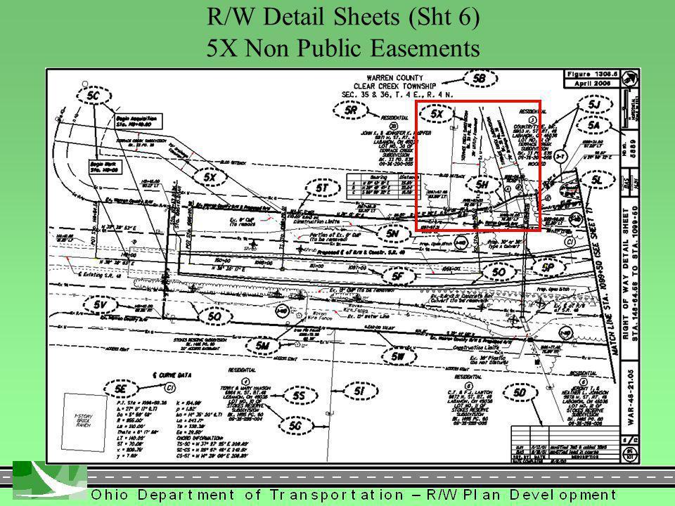 396 R/W Detail Sheets (Sht 6) 5X Non Public Easements