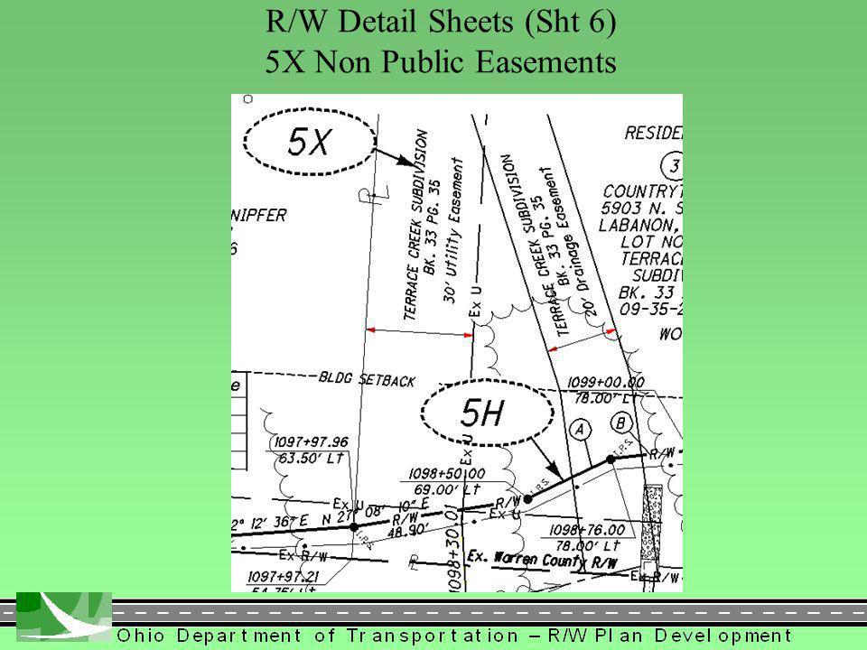 397 R/W Detail Sheets (Sht 6) 5X Non Public Easements