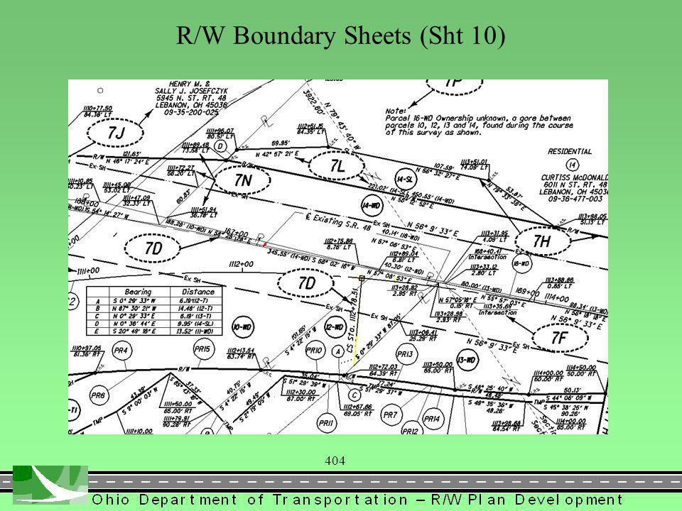404 R/W Boundary Sheets (Sht 10)