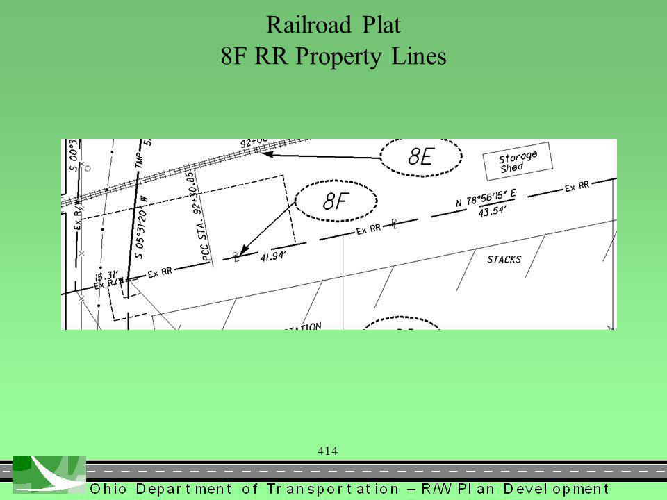 414 Railroad Plat 8F RR Property Lines