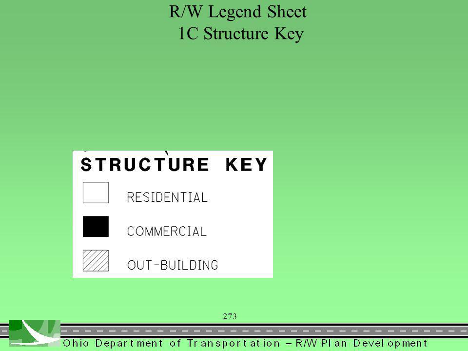 273 R/W Legend Sheet 1C Structure Key