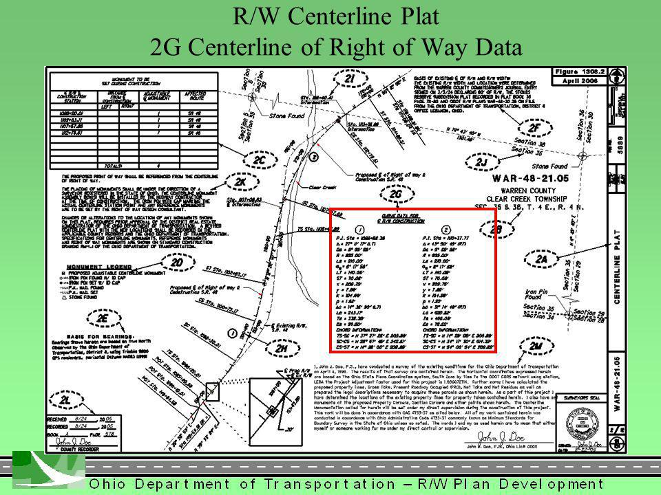 303 R/W Centerline Plat 2G Centerline of Right of Way Data