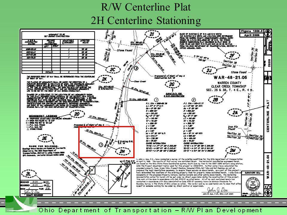 305 R/W Centerline Plat 2H Centerline Stationing