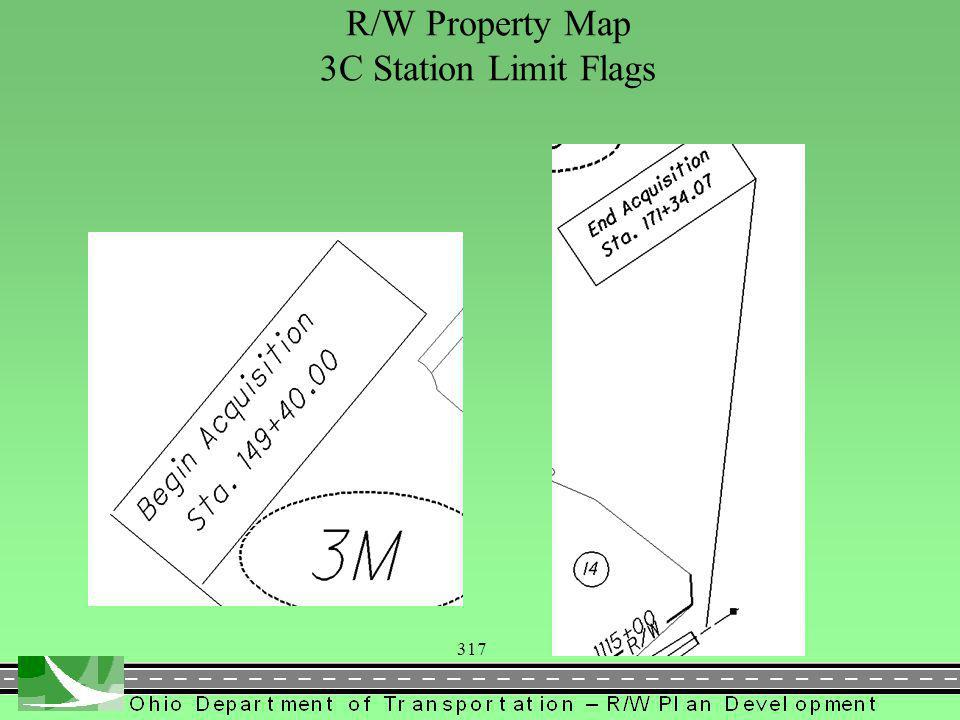317 R/W Property Map 3C Station Limit Flags