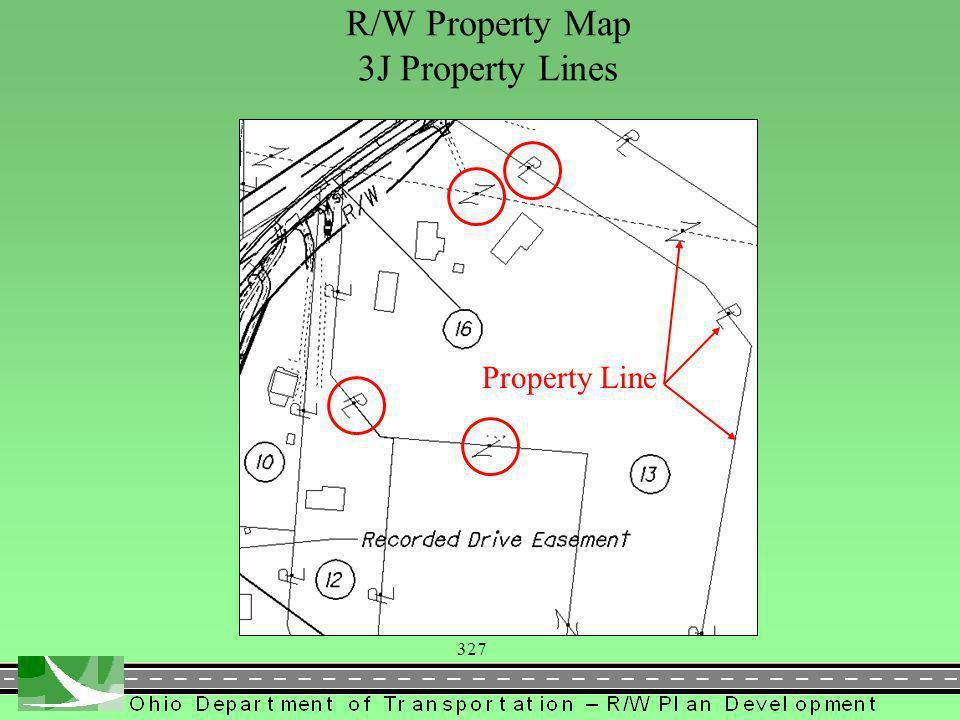 327 R/W Property Map 3J Property Lines Property Line