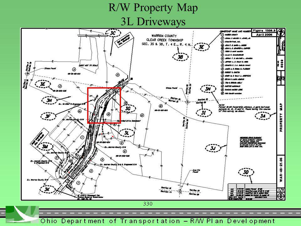 330 R/W Property Map 3L Driveways