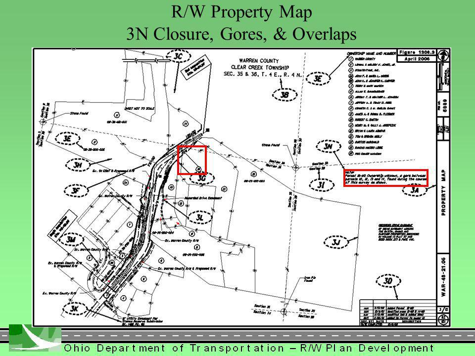 334 R/W Property Map 3N Closure, Gores, & Overlaps