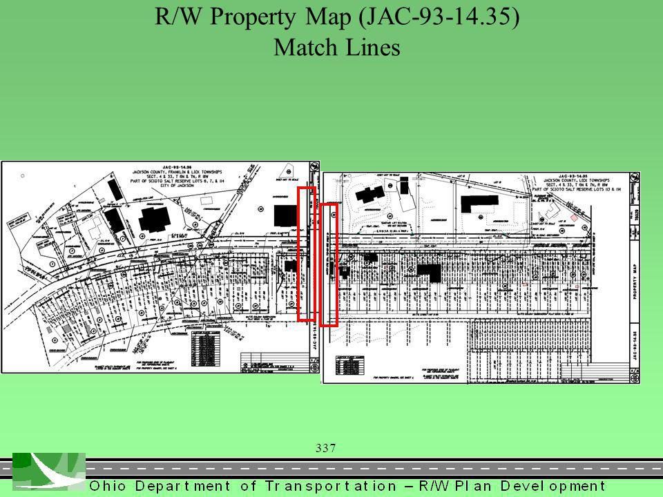 337 R/W Property Map (JAC-93-14.35) Match Lines
