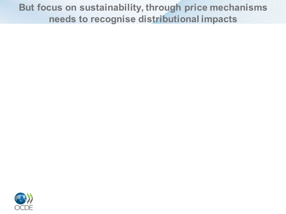 But focus on sustainability, through price mechanisms needs to recognise distributional impacts
