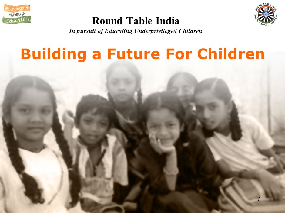 0 Building a Future For Children Round Table India In pursuit of Educating Underprivileged Children