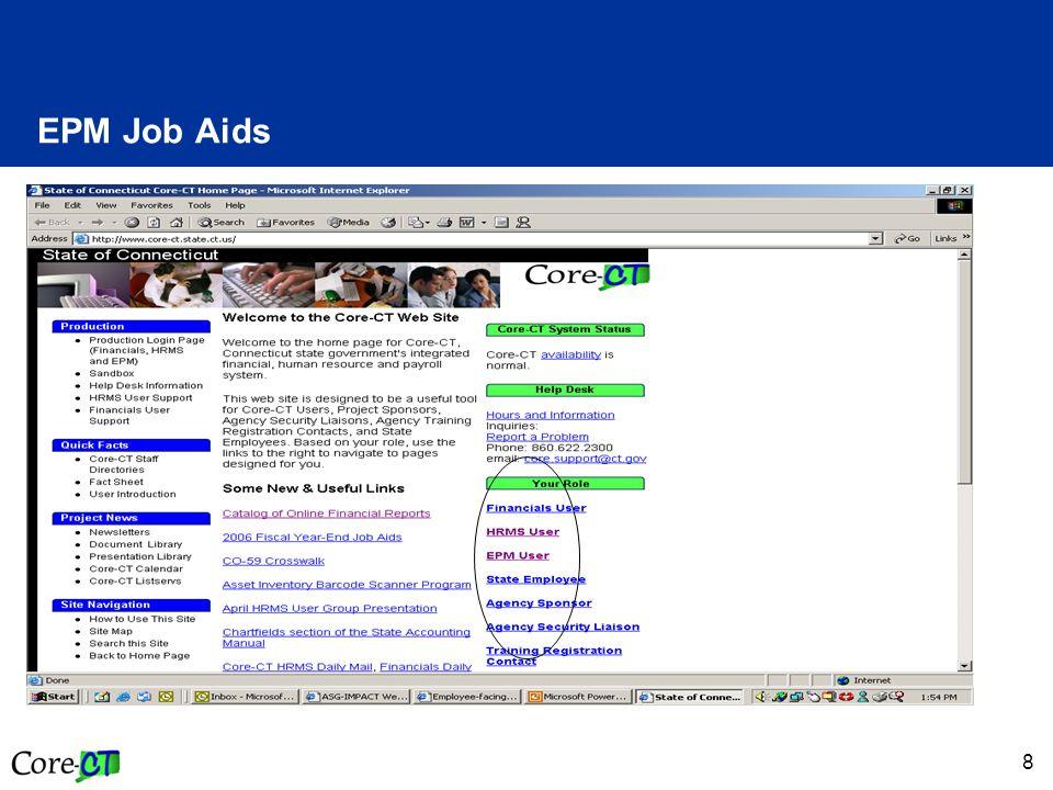 8 EPM Job Aids